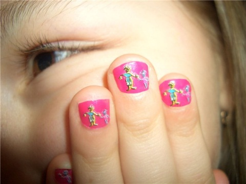 детские фото рисунки на ногтях