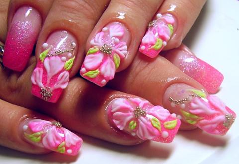 Фото рисунки на наращенных ногтях