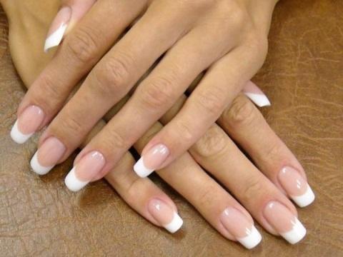 Френч на натуральных ногтях в фото