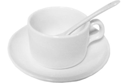 Чашка, блюдце и ложка для ароматного напитка!